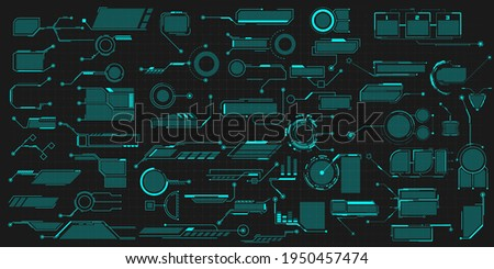Callouts titles UI, UX. Callout bar labels, information call box bars and modern digital info. Tech digital info boxes hud templates. Futuristic set advertising communication. Vector illustration