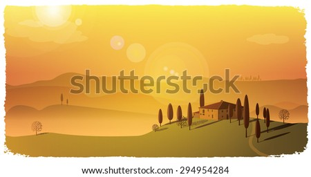 calm fall landscape background