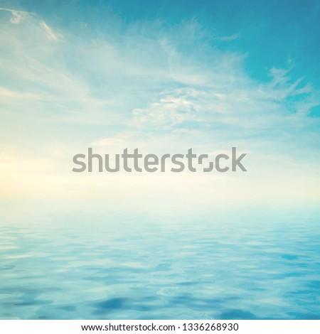 calm sea ocean and blue sky