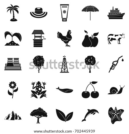 Shutterstock Caloric icons set. Simple set of 25 caloric vector icons for web isolated on white background