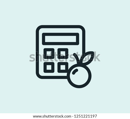 Calorie calculator icon line isolated on clean background. Calorie calculator icon concept drawing icon line in modern style. Vector illustration for your web mobile logo app UI design.