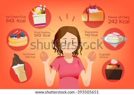 calorie dessert for each piece