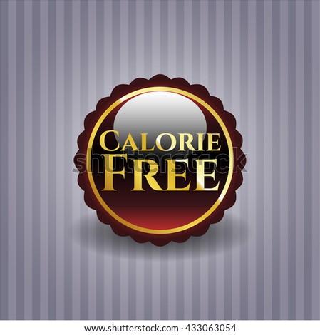 Calorie Free golden emblem or badge