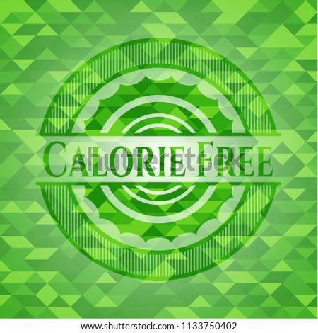 Calorie Free green mosaic emblem Stock fotó ©