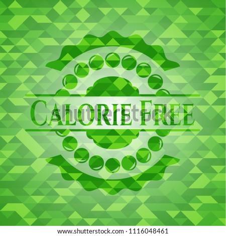Calorie Free realistic green mosaic emblem Stock fotó ©