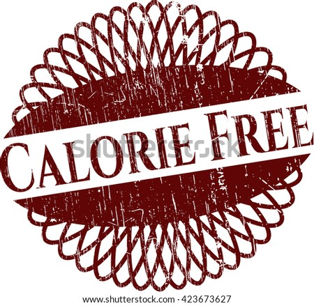 Calorie Free rubber grunge texture stamp