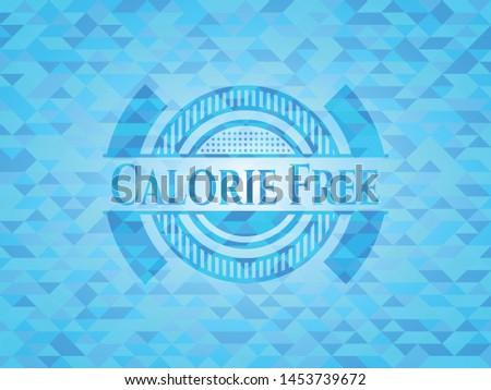 Calorie Free sky blue emblem. Mosaic background Stock fotó ©