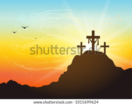 calvary hill with silhouettes