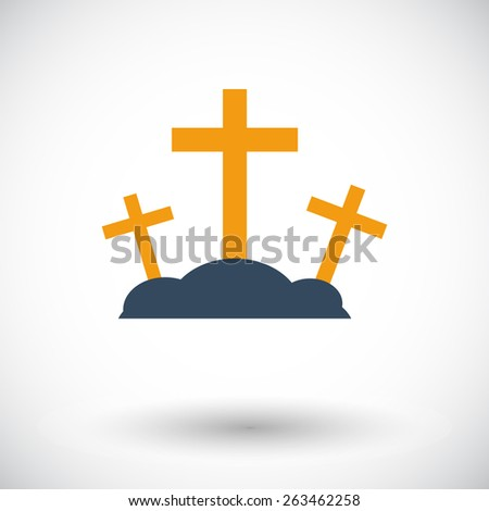 calvary single flat icon on