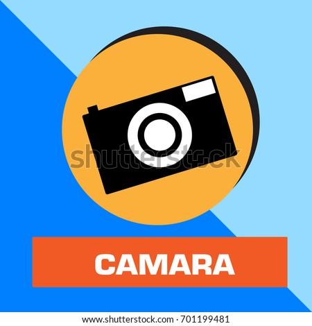 Shutterstock camara icon vector