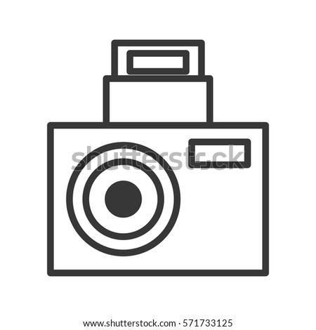 Shutterstock camara party icon design image, vector illustration