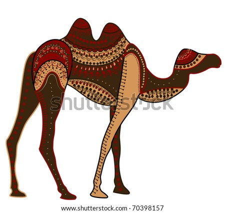 camel of various elements in ethnic style