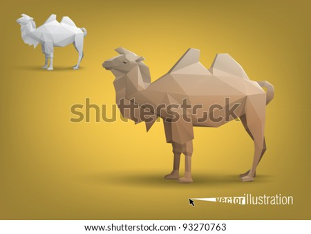 camel stylized triangle