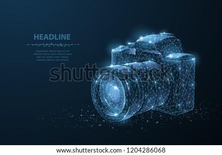 camera abstract 3d polygonal