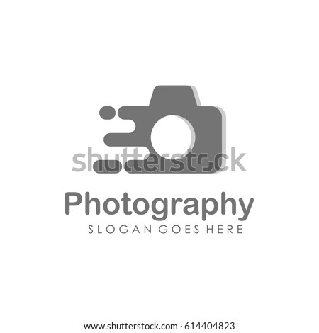 Camera and Photography logo illustration full vector