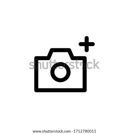 Camera Auto Mode User Interface Outline Icon Logo Vector Illustration