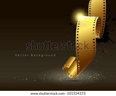 camera film roll gold color