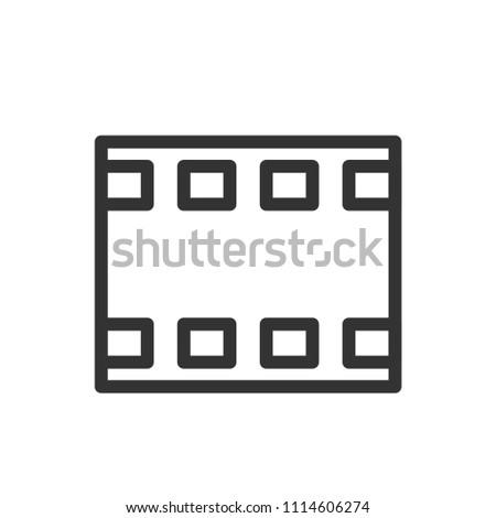 camera film thin line icon