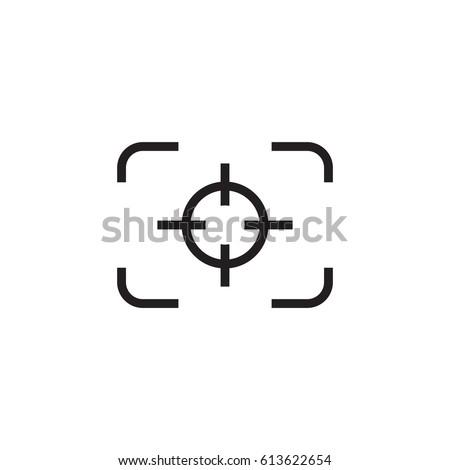 camera focus line vector