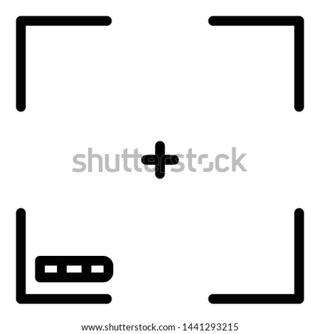 Camera focusing screen icon. Outline camera focusing screen vector icon for web design isolated on white background