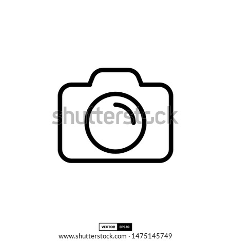 Camera icon, design inspiration vector template for interface and any purpose