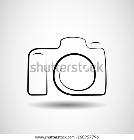 Camera icon design silhouette in vector format