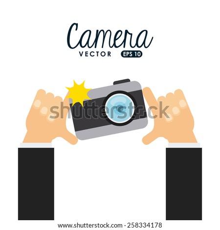 camera icon design, vector illustration eps10 graphic