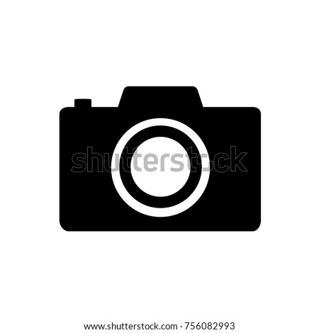 Camera icon, flat photo camera vector isolated. Modern simple snapshot photography sign. Instant Photo internet concept. Trendy symbol for website design, web button, mobile app. Logo illustration