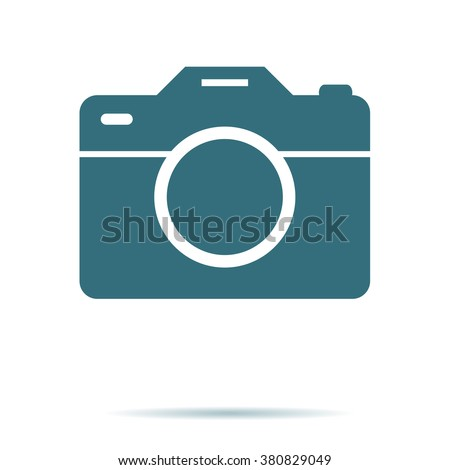 Camera icon, flat photo vector isolated. Modern simple snapshot photography sign. Instant trendy symbol for web site design, mobile app. Logo illustration.