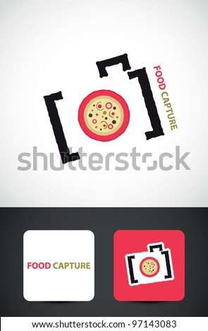 Camera Icon, Food photography concept, vector icon such logo and business card template.