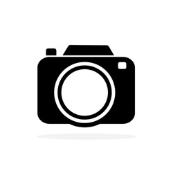 Camera icon in a stylish, modern, simple style Isolated on white background Suitable for designing logos, websites and applications.