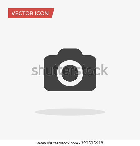camera icon in trendy flat