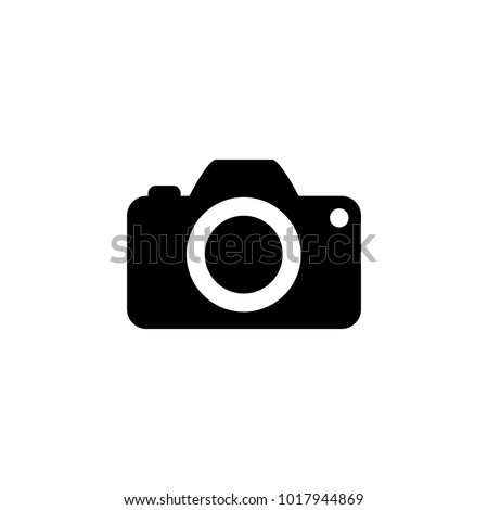 Camera Icon in trendy flat style isolated on white background.