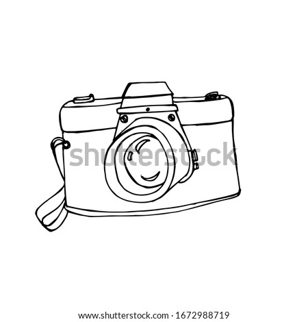 camera icon isolated on white