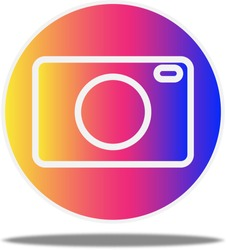 Camera icon on rainbow gradient color