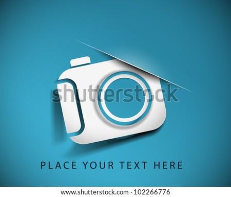 camera icon on white button