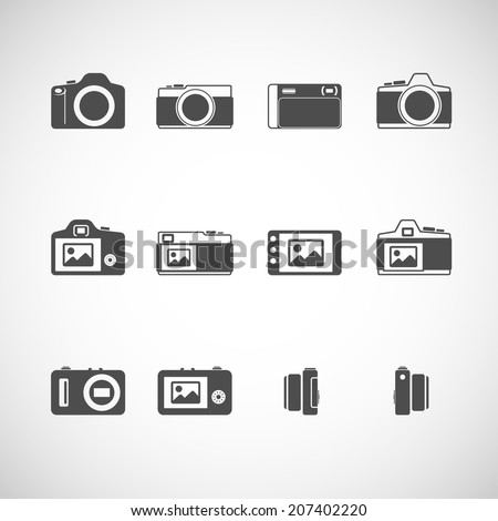 camera icon set  each icon is a