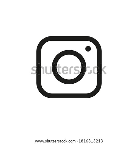 Camera icon simple style Isolated vector illustration on white background.