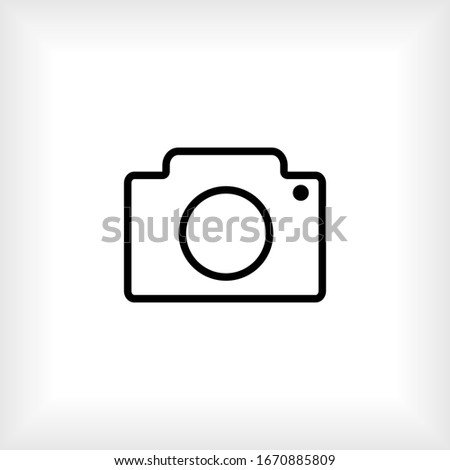 Camera Icon. Universal Interface Element, Sign and Symbol - Vector.