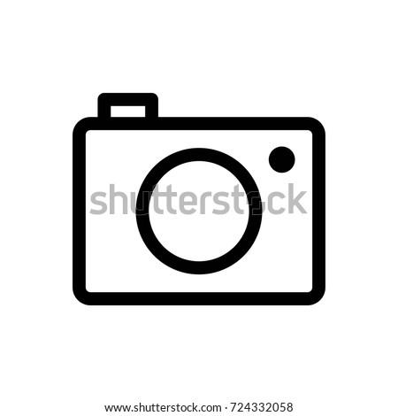 Camera Icon Vector Fat Design Editable Stroke. 512x512 Pixel Perfect. Photo Camera - Vector EPS Icon. Vector Camera - Icon Photo. Camera Best Line Icons