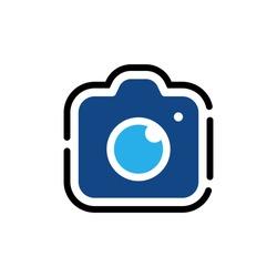 Camera Icon Vector Illustration. Camera design vector template. Camera icon flat design vector for website, symbol, logo, sign, app, UI.