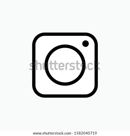 Camera Icon - Vector, Sign and Symbol in Line Art Style for Design, Presentation, Website or Apps Elements.