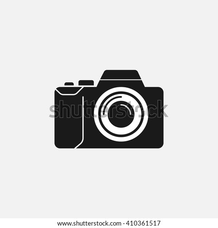camera icon vector, solid illustration, pictogram isolated on white