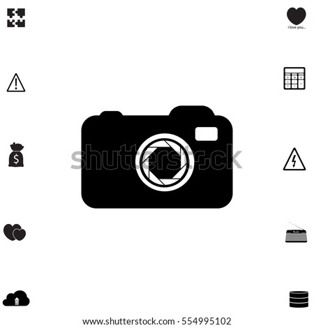 camera icon with bonus symbols
