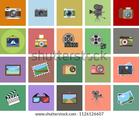 Camera Icons set isolated. Camera symbols for your web site design, logo, app, UI. Vector illustration, EPS10