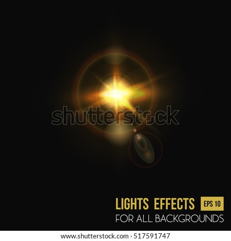 camera lens flare background