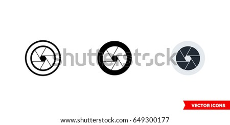 camera lens icon of 3 types