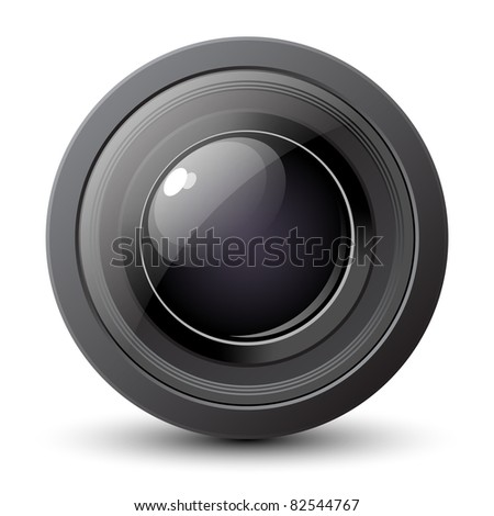 Camera Lens Icon. Vector illustration