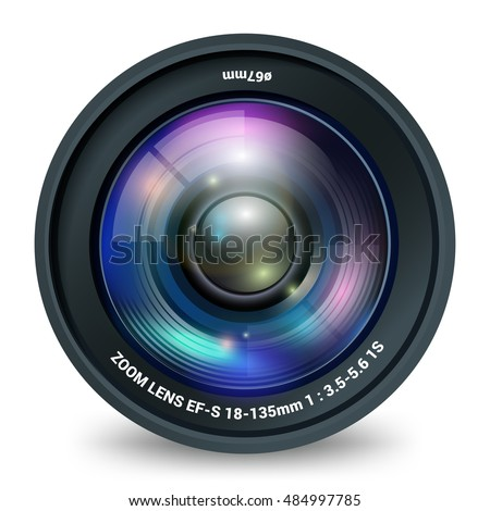 camera lens isolated front view