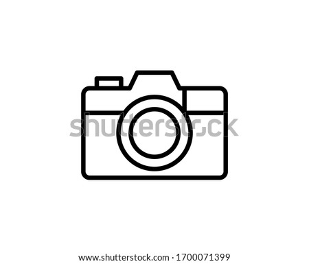 Camera line icon. Vector symbol in trendy flat style on white background. Web sing for design. Photo stock ©